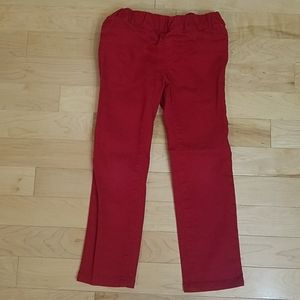 Crazy 8 red skinny jeans 4T